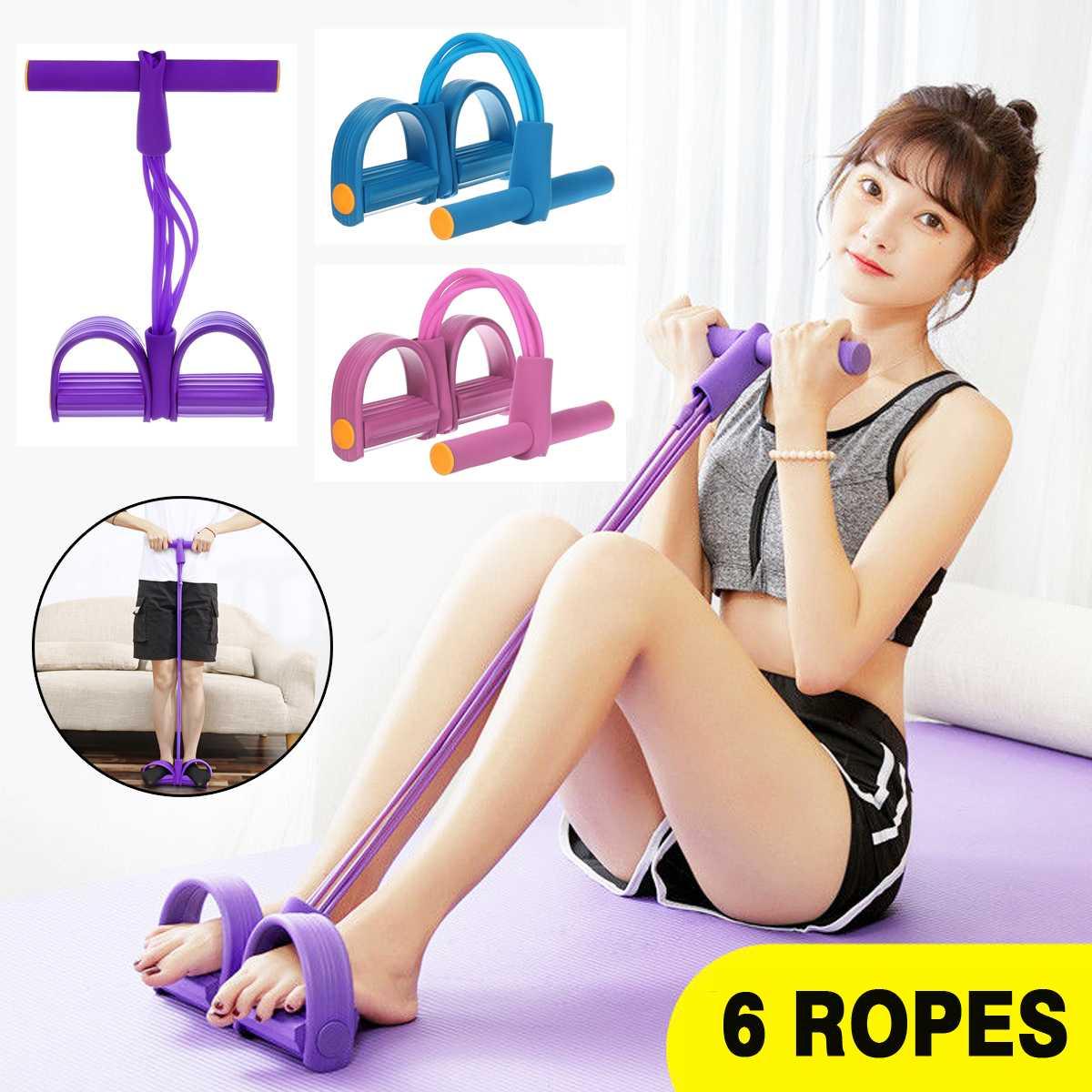 Fasce di corda di tensione multifunzione fasce di resistenza per esercizi elastici nastro fasce di resistenza Fitness 6 tubi elastici