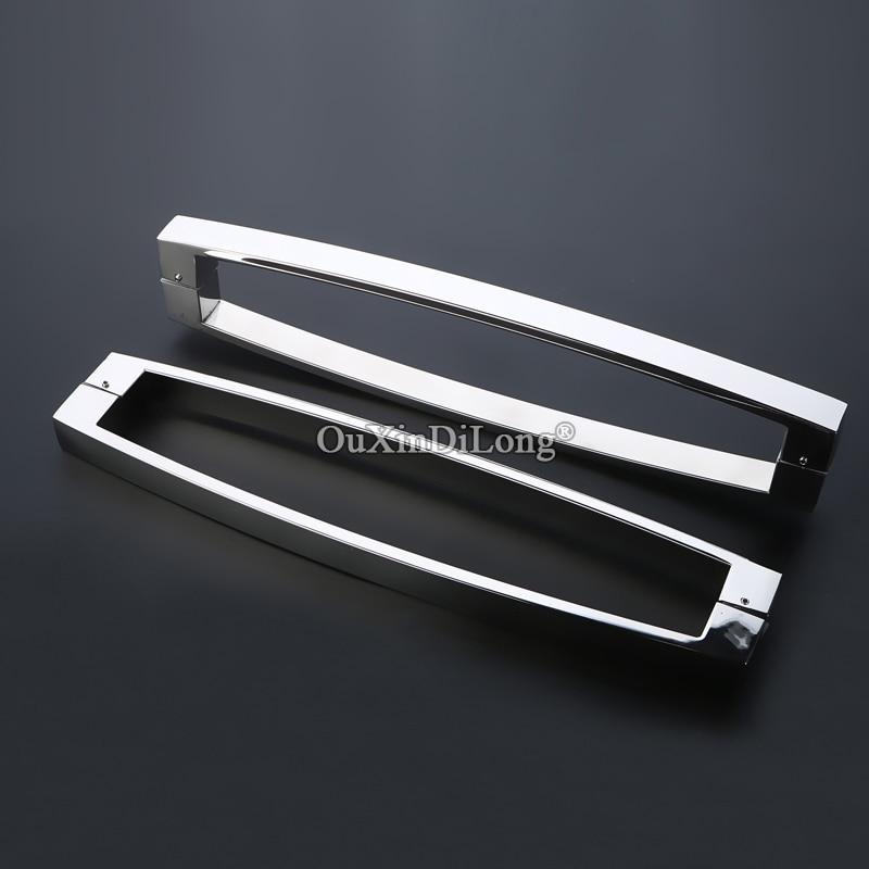 Brand New 2PCS Stainless Steel Frameless Bathroom Shower Glass Sliding Door Handles Glass Door Pull / Push Handles CC 225/440mm