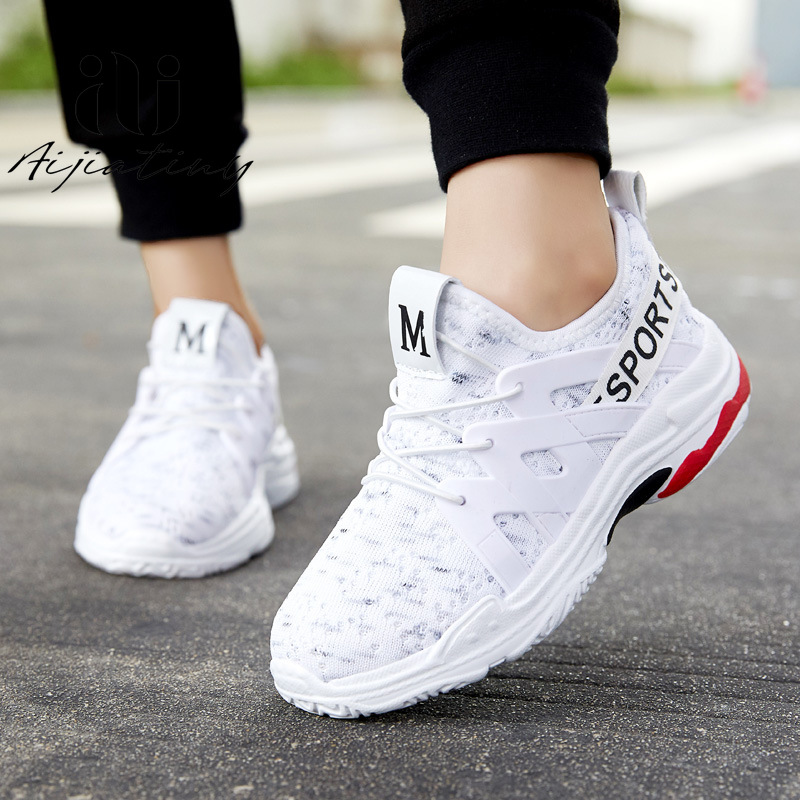Boy/'s Children/'s Air Cushion Fashion Casual Shoes Shoes Kids Flyknit Breathable
