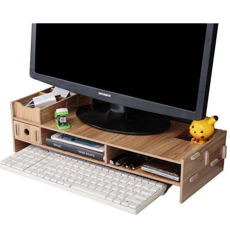 Home High Quality LCD TV Computer Monitor Placement Rack Desktop Debris Storage Rack Laptop Support Laptop Desk