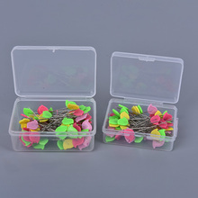 100PCS/50PCS Patchwork Craft Flower Button Head Pins Quilting Tool Sewing Accessories