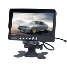 1 шт 7 дюймов ЖК-дисплей Цвет дисплея Экран камера заднего вида для контроля уровня сахара в крови с пульт дистанционного управления может быть подсоединено во время использования Реверсивный Камера