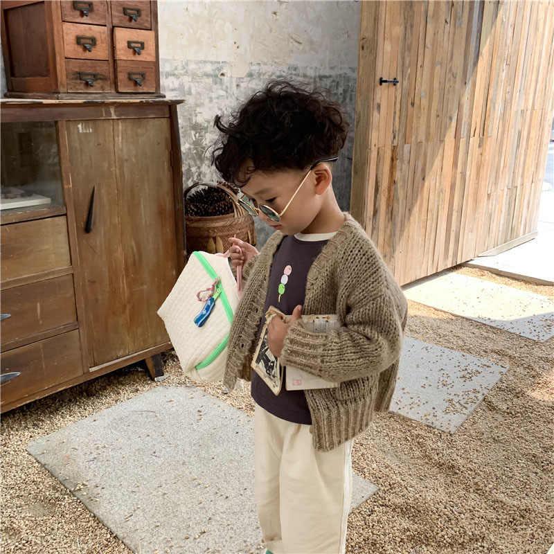 MILANCEL/новые осенние детские свитера; корейские кардиганы для мальчиков; детские свитера; трикотаж для девочек