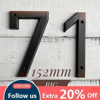 Состаренная бронза 152 мм очень большой дом номер двери цифра дл обозначения номера дома или квартиры крепление из цинкового сплава установл...