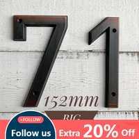 Im alter von Bronze 152mm Sehr Große Haus Anzahl Tür Adresse Anzahl Zink-legierung Schraube Montiert Outdoor Adresse Zeichen #0 -9