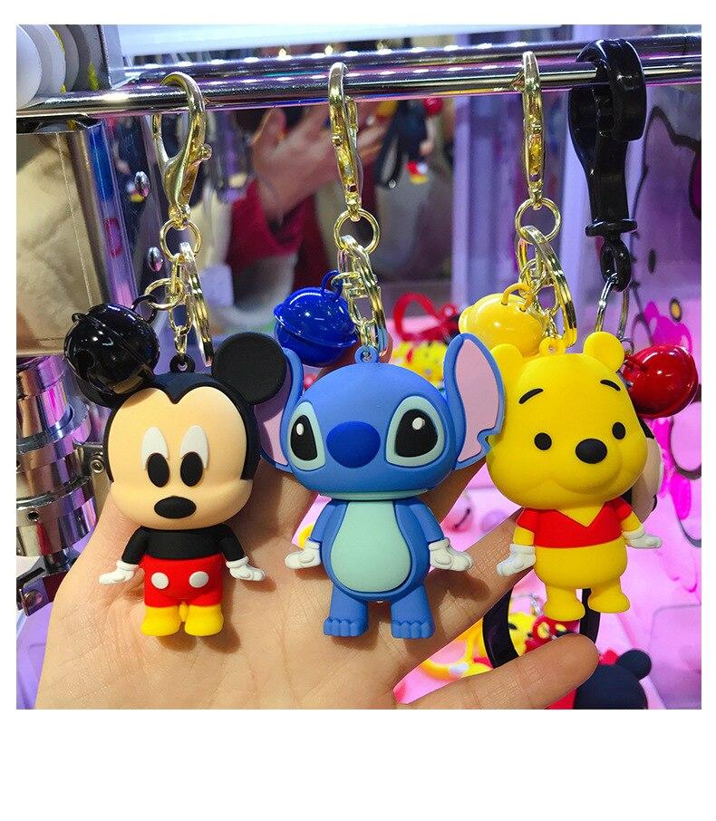 Lovely Pooh bear toy plush doll key chain anime keyring new