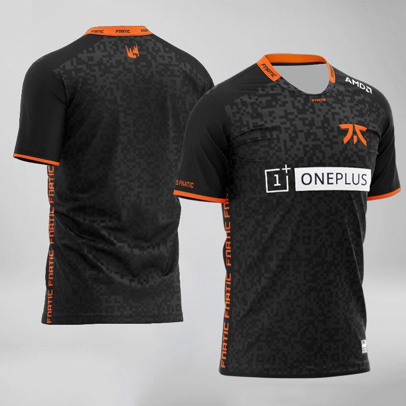 Футболка Fnatic для команды киберспорта, уличная одежда с принтом игры LOL CSGO DOTA2 Pro, футболка с персонализированным ID, мужские и женские модные ф...