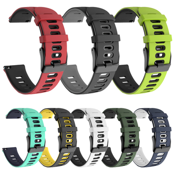 Galaxy Active2 Band for Samsung Galaxy Watch 42mm / Active 2 44mm 40mm / Gear Sport S2 Classic Wrist Strap Silicone Watchband