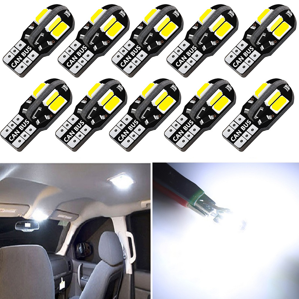 10x Error Free T10 <font><b>LED</b></font> W5W 2825 Interior Light Bulb For BMW E46 E39 E90 E60 <font><b>E36</b></font> F30 F10 E30 E34 X5 E53 M F20 X3 E87 E70 E92 X1 M image