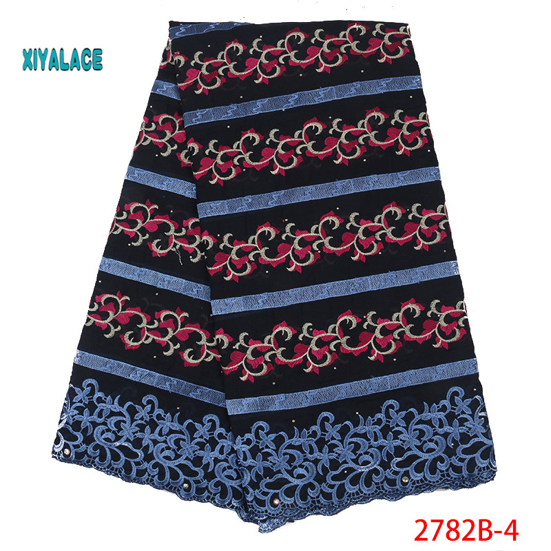 African Lace Fabric Nigerian Lace Fabric The New African French Dry Lace For 2019 High Quality Swiss Voile Lace Fabric YA2782B-4