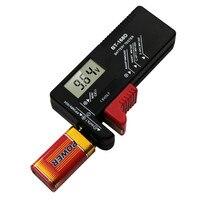 디지털 배터리 테스터 전압계 aa/aaa/c/d/9 v/1.5 v 배터리 버튼 배터리 볼트 테스터 lcd 디스플레이 배터리 진단 도구