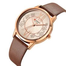 CURREN Ladies Wrist Watch 2019 Dames Horloges Casual Quartz Watches For Women Leather Strap High Quality Luxury Waterproof