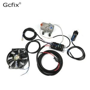 Image 2 - A/C 12V 24V Elektrische Compressor Set Voor Auto Ac Airconditioning Auto Vrachtwagen Bus Boot Tractor winkel Auto Airco