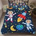 Детское постельное белье Wishstar  3D космическая серия  с мультяшным рисунком  постельное белье для детей  пододеяльник  набор с рисунком планет...