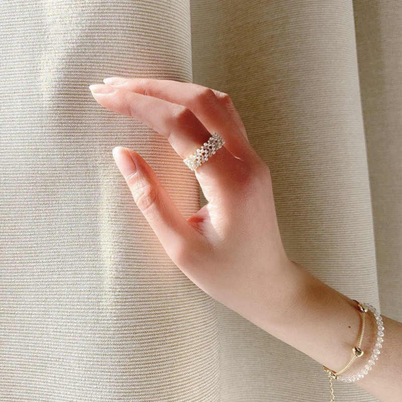 Gold open ring,zircon open ring,star open ring,flower ring,pearl ring,dainty gift ring