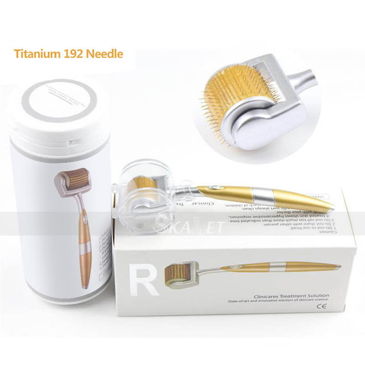CE Approved Titanium Derma Roller 192 Needles For Face Care Hair-loss Treatment Micro Needles Home Use
