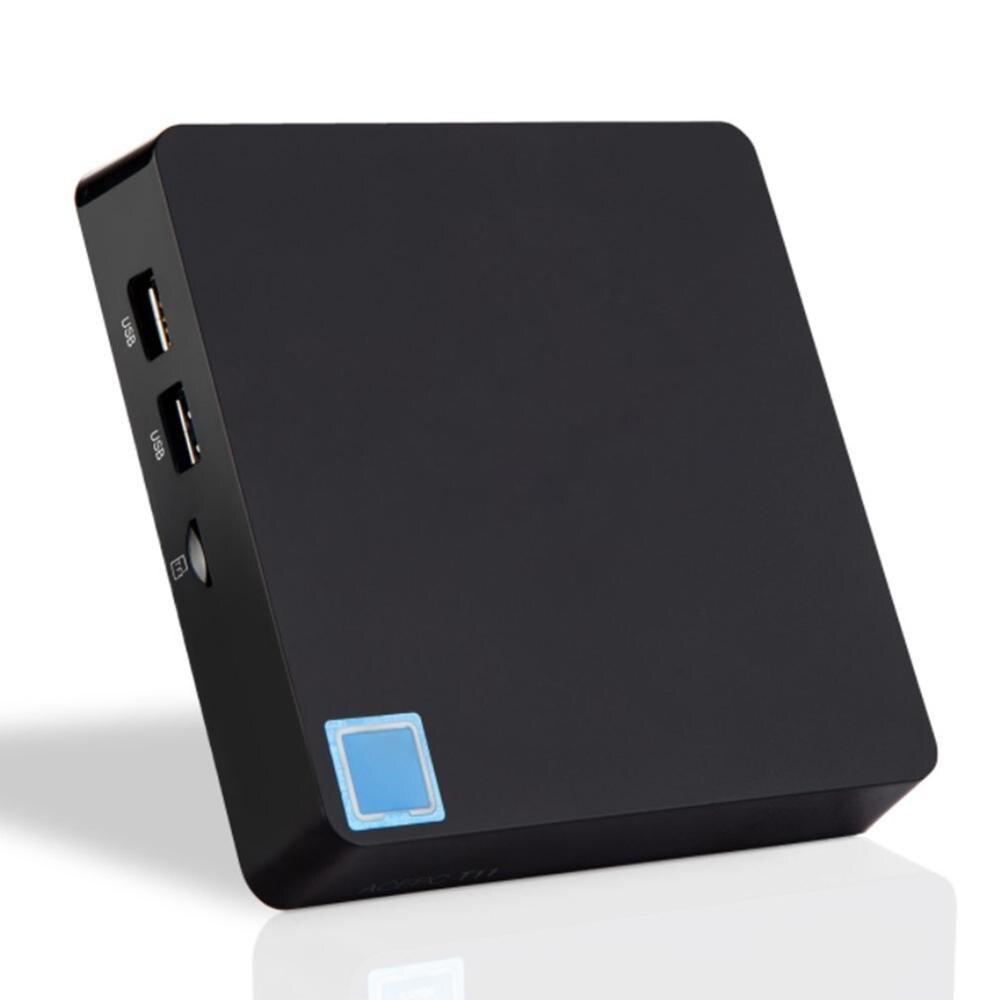 T11 mini hôte 4G + 64GG double fréquence 2.4G & 5.8G Quad core WIFI 4.2 MINI PC lecteur multimédia TV Box