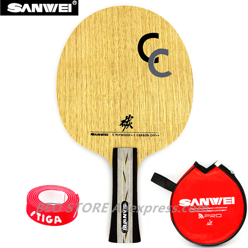 SANWEI CC Table Tennis Blade 5 Wood+2 Carbon OFF++ Training Without Box Ping Pong Racket Bat Paddle Tenis De Mesa