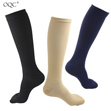 Women And Men Sports Compression Knee High Socks Solid Color Calf Light Breathable Soothe Pain D40