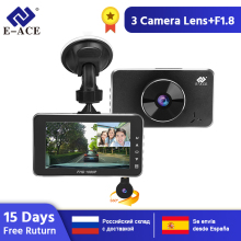 купить E-ACE Car DVR Dash Cam Novatek 96658 Camera Full HD 1080P 3.0 Inch Recorder Dashcam Two Lens Auto Registrator Video Car Recorder по цене 3467.59 рублей