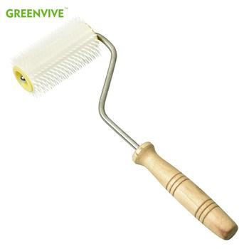 Ula plastikowa igła Roller Uncapping widelec narzędzie Wood Handle do miodu o strukturze plastra miodu Uncapping pszczelarstwo tanie i dobre opinie CN (pochodzenie) UF08-2
