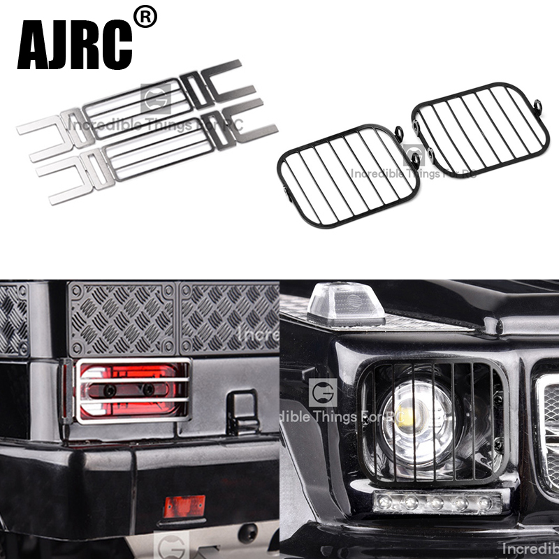 TRAXXAS TRX-4 G500 TRX-6 G63 6X6 Metal Headlight Protection Cover Lampshade Tail Lampshade Protective Cover