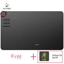 XP-Pen Deco 03 mesa digitalizadora Digital Gráficos Drawing Tablet Caneta Desenho Tablet com Bateria-Free Passiva stylus e 6 Atalho