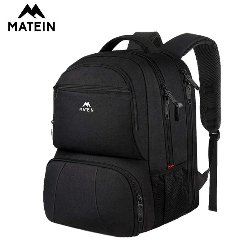 Matein 17inch Lunch Backpack  Laptop Backpack With USB Charging Port Commuter Backpack For College School Work Office Travel Bag