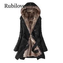 Rubilove Women Winter Jacket 2019 Casual Ladies Basic Coat feminina jacket Warm Long Sleeve women parkas
