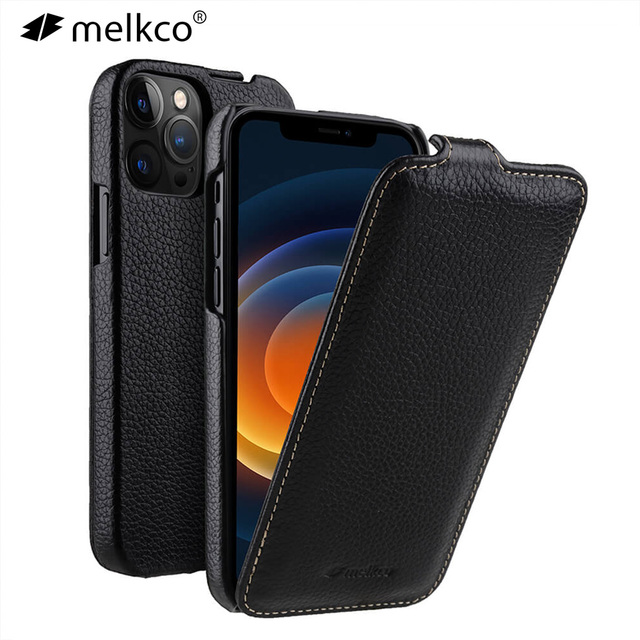 Melkco Genuine Leather Flip Phone Case For iPhone 12 Pro Max mini 11 X Xr Xs Max 7 8 SE Business Luxury Real Cow Cases Bag Cover 1