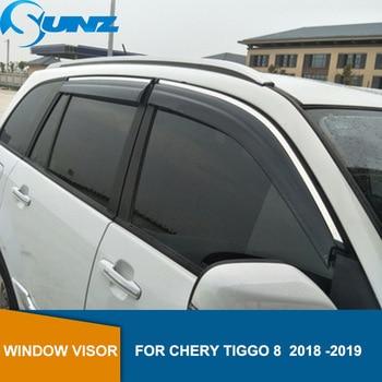 smoke Car Side Window Deflectors For CHERY Tiggo 8  2018 2019  Sun Shade Awnings Shelters Guards accessories SUNZ