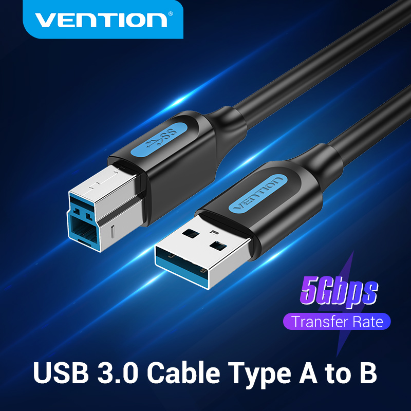 Vention USB Printer Cable USB 3.0 Type A Male to B Male USB Cable for Canon Epson ZJiang Label USB 3.0 2.0 Scanner Printer Cord
