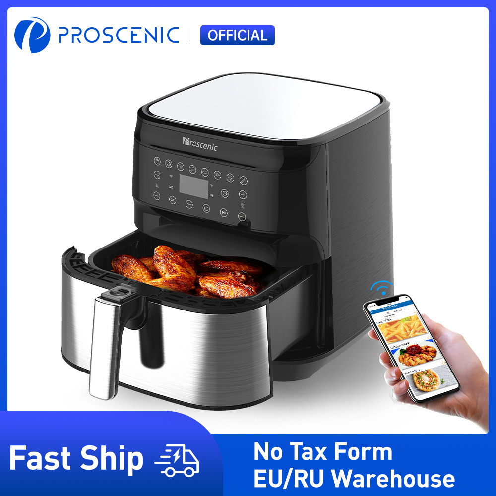 Proscenic T21 Air Fryer, 5.5L with Touch Screen Panel, APP and Voice Control, Nonstick Basket, Recipe Book, BPA and PFOA Free