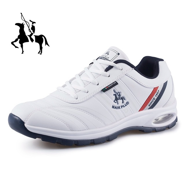 Paul Men Shoes Golf Sports Shoes Running Shoes Casual Children Travel Tide Air Cushion Shoes Tennis Students White Shoes
