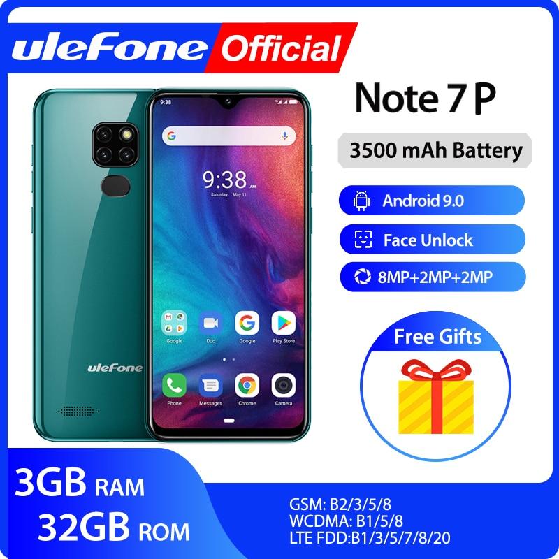 Ulefone Note-7p Smartphone 32GB 3GB LTE/GSM Quad Core Fingerprint Recognition/face Recognition