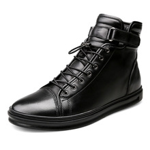 2020 New  Genuine Leather Autumn Warm Men Boots Winter Waterproof Ankle Boots Snow Boots Outdoor Working Boots Men ZH100504