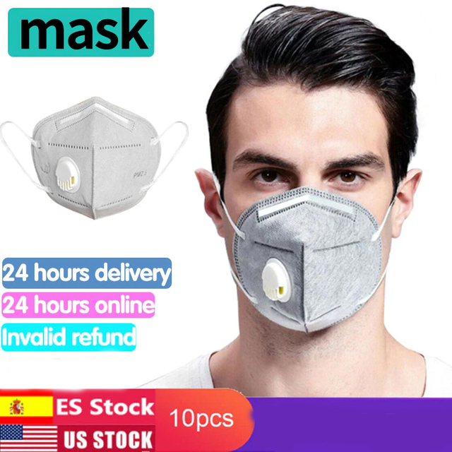 Kn95 Mask With Valve 5 Layers Reusable Dust Respirator Masks Individual Packing Protective Face Masks FFP2 ffp3 mask Mascarillas