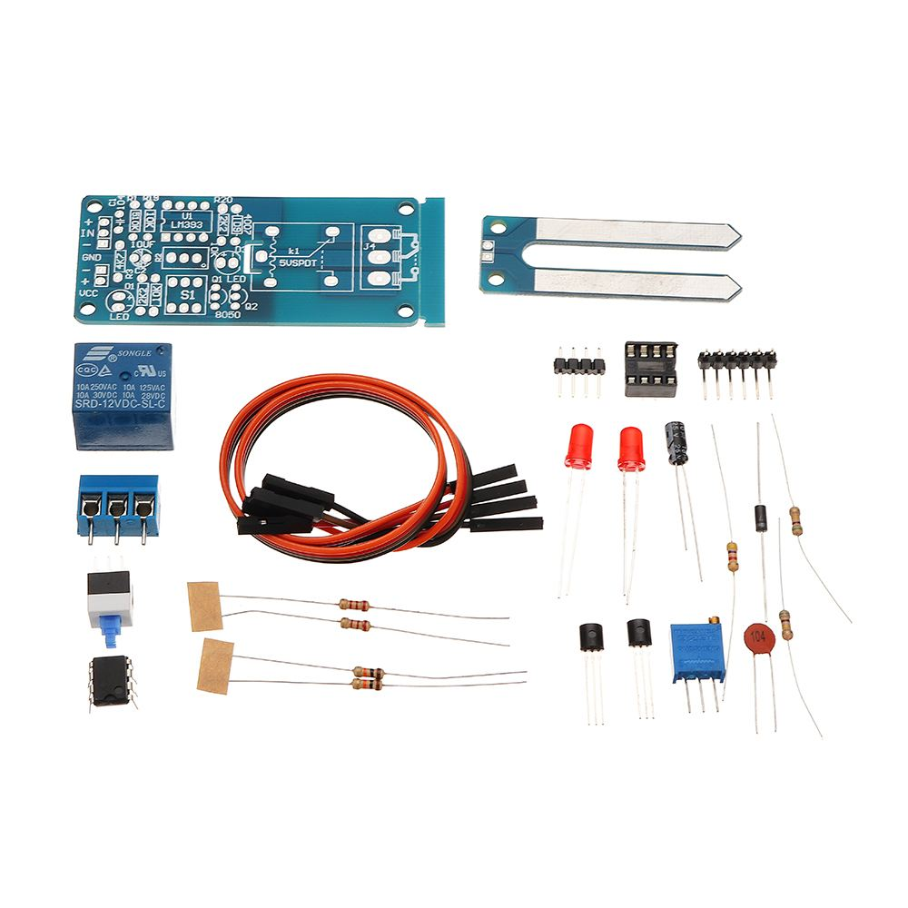 DIY 12V Automatic Watering Module Kit Soil Moisture Sensor With Time Delay