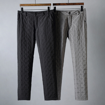 JSBD high-end outdoor windproof and waterproof quilted quilting quilted winter men wear straight down trousers for warmth фото