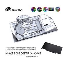 Bykski – bloc de refroidissement à eau pour ASUS RTX3080 3090 STRIX, carte graphique, système de refroidissement liquide, GPU 3080 3090