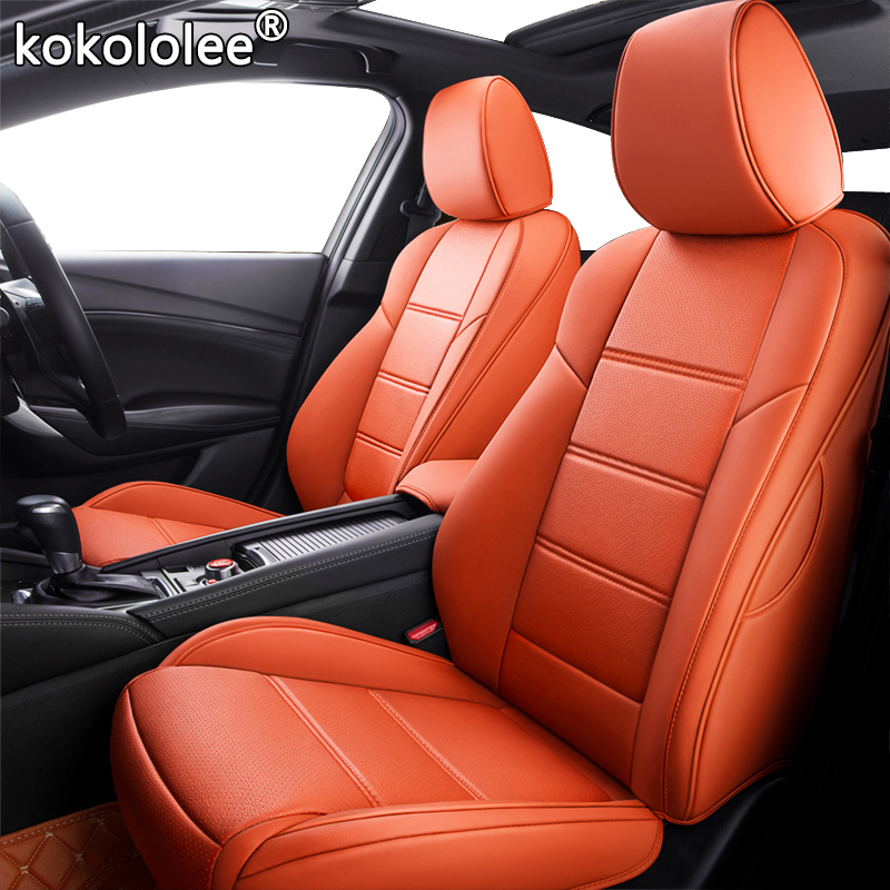kokololee Custom Leather car seat cover set For BMW 3/4 Series E46 E90 E91 E92 E93 F30 F31 F34 F35 G20 G21 F32 F33 F36 seat cars image