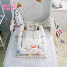 Infant Shining Portable Baby Crib Baby Nest Bed Cradle Cot Co-sleeping Bed 95*50*15cm(37*19*6in) Folding Bed for Baby Care baby portable baby bed anti tipi sleeping bag comfort station folding bed cabarets sleeping basket bed