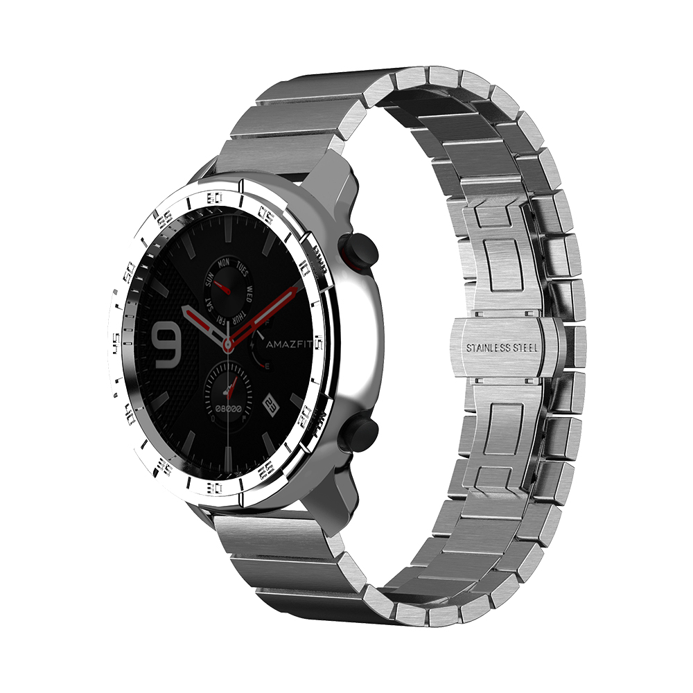 SIKAI Plating Watch Case For Huami Amazfit GTR 47mm Top-quality PC Watch Cover For Amazfit GTR 47mm Smartwatch Shell Bezel