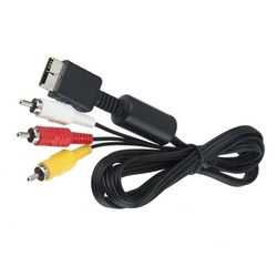 Composite S-Video RCa aV 2in1 audio video cord wire S-Video aV Cable for PS2 for PS3 for Playstation 2 3 Console