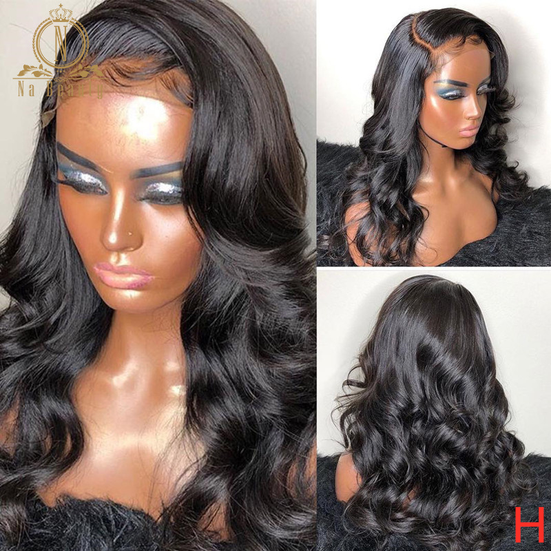 Loose Wave Human Hair Wigs For Women 180 Density 13x6 Lace Front Human Hair Wigs Pre Plucked Brazilian Remy Hair Black Nabeauty