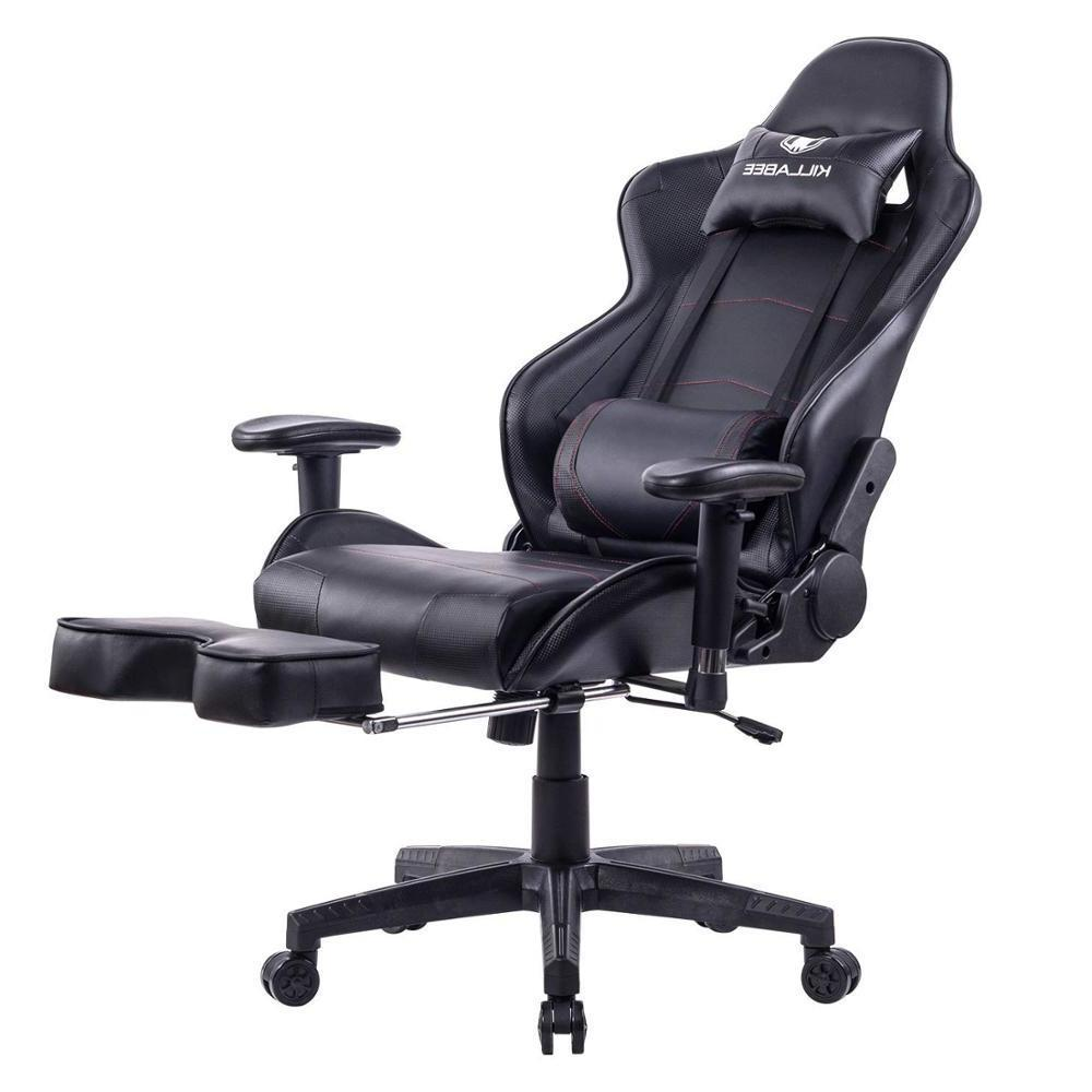 Reclining Racing E Games Chair Internet Office Seat Chair With Footrest Seat Russia Lying Household Black Nylon Office Chair