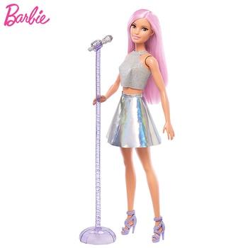 Original Barbie Dolls Princess Toys for Girls Assortment Fashionista Rock Singer Star Style Bonecas Barbie Doll Birthday Gift недорого