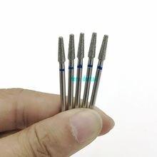 10 шт. 2,35 мм хвостовик алмазный шлифовальный бор сверла наборы для стоматологического шлифования Форма иглы MB31 Стоматологическая Полировка Боры