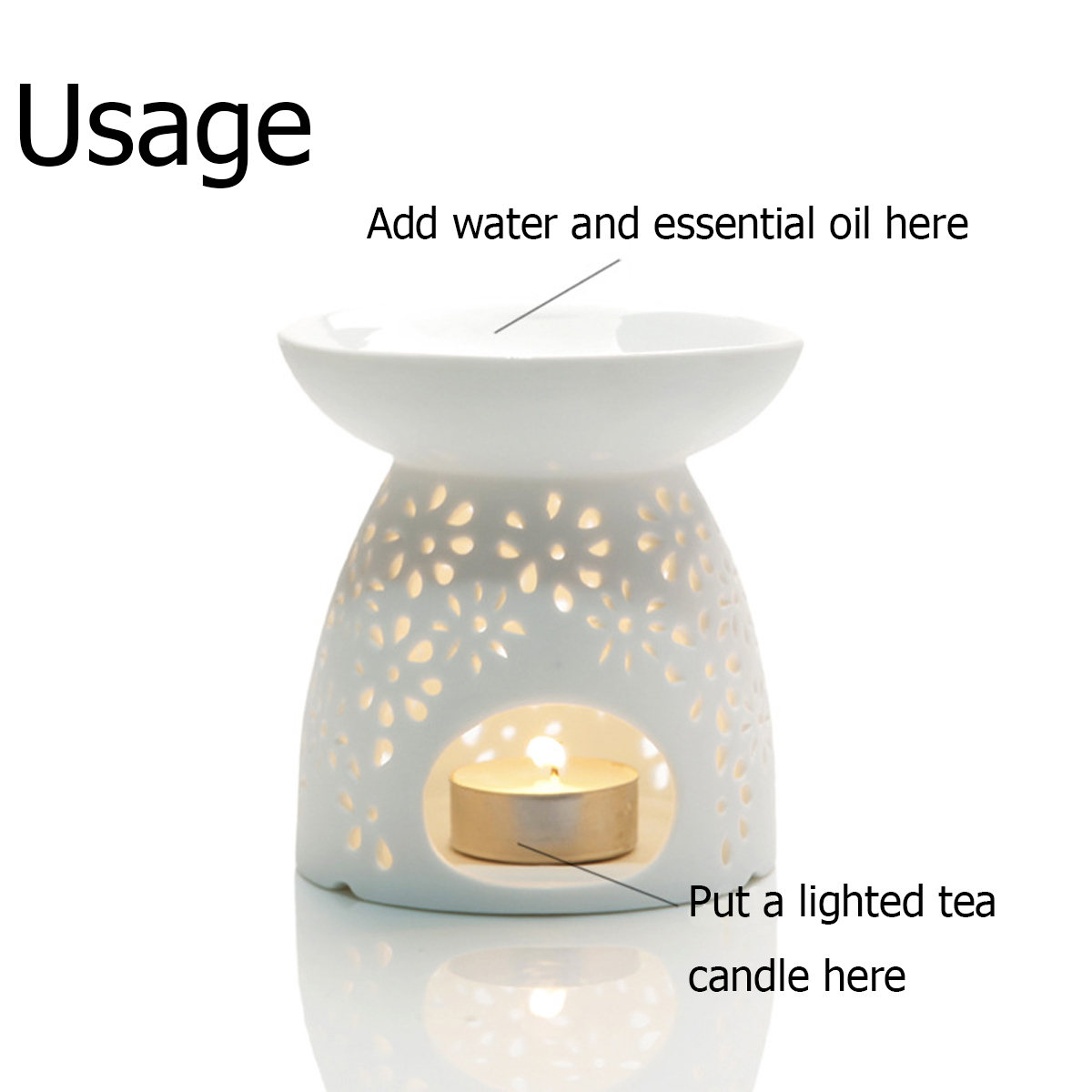 Pan Aroma Electric Wax Melter Home Room Fragrance Diffuser Without Flame