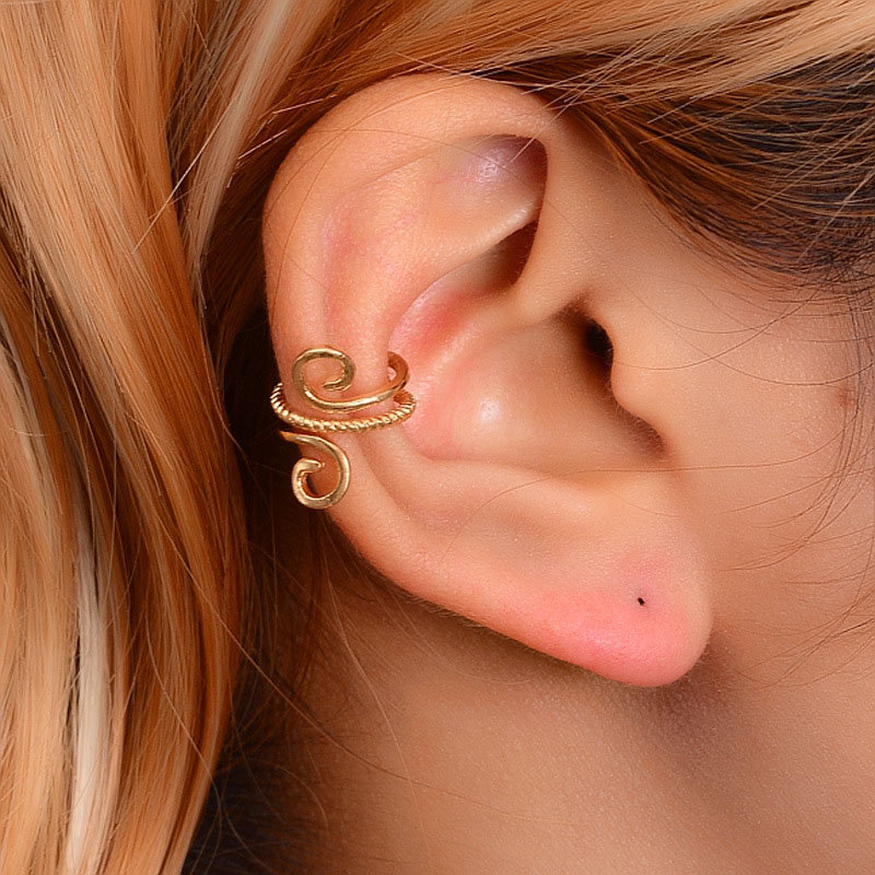 Yobest Vintage Clip On Earrings Crystal Ear Cuff Non Pierced Earrings Nose Ring New Fashion Women Earrings Punk Rock Earcuff